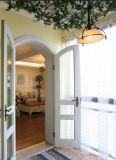 Porte en verre de type de Frence de tissu pour rideaux européen de PVC avec le modèle de gril pour le Sunroom (PCD-011)
