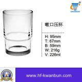 Chá de vidro elegante do copo com a boa alta qualidade KB-HN056 do preço