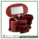 Casella di memoria di legno Handcrafted dei monili per il regalo