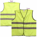 2 bolsillos de neón verde chaleco de seguridad con bandas reflectantes ANSI / ISEA Media / Alta Visibilidad Amarillo fluorescente verde reflectante chaleco de seguridad de fábrica