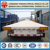 De Ctsm 3-Axles del aire de la suspensión del transporte de contenedores de Lowboy acoplado semi