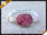 2016卸し売り新しいデザイン真珠の石は玉を付けるDruzyのブレスレット(LW060)に