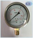 부르동관 석유로 가득한 압력 계기 En837.1