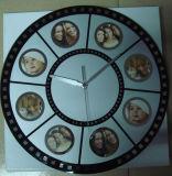 Horloge de mur en verre