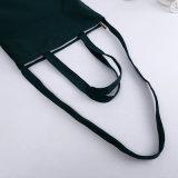 Мешок Tote плеча холстины черноты закрытия застежки -молнии с внутренними карманн