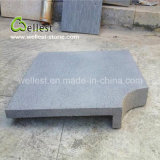 Hainan Natural Honed Grey Basalt Bullnose Edge Pool Coping