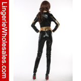 Costume Cosplay супер героя Seductress Catsuit сексуальной длинней втулки женщин стальной
