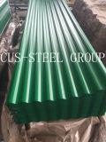 O painel do telhado da cor de PPGI/corrugou-se Prepainted telhar a folha