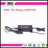 12V 5A 60W, DC24V 60W, carregador do diodo emissor de luz, fonte de alimentação constante do diodo emissor de luz da tensão, adaptador da potência 60W da tira do diodo emissor de luz, adaptador 60W