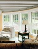 Окно электрофореза алюминиевое деревянное двойное повиснутое, дешевое цена & окно высокого качества двойное стеклянное алюминиевое