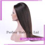 100 parrucche piene non trattate del merletto dei capelli umani del Virgin di Glueless