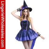 Kostuum van Cosplay van de Kleding van Fnacy van de Heks van Spiderweb van de Partij van Halloween van vrouwen het Sexy
