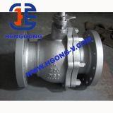 Bride de dispositif d'entraînement de DIN/API6d Electirc flottant le robinet à tournant sphérique d'acier inoxydable