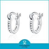 2015 glückliche Form-Silber-Sterlingsilber-Band-Ohrringe (E-0029)