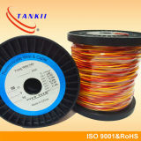 fio do par termoeléctrico do PVC/FEP/de 0.1mm fibra de vidro Superfine/cabo isolados (tipo KX/KC JX NC EX)