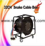 Cabo de sinal de áudio de cobre puro, caixa de bobina de cabo de serpentina série XLR