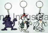 Förderung-Geschenk kundenspezifischer PlastikSilicn Schlüsselkette Keychain Schlüsselring-Schlüssel-Gummihalter