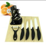 """3-6 """" articolo da cucina stabilito della lama di ceramica di pollice con la maniglia del delfino (ZJ-0043)"""