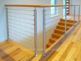 Im Freien hochwertiges 316 Edelstahl-Kabel-Geländer/Kabel Balustarde für Terrasse