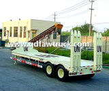 Semi Trailer Expert 2 reboque de Low Bed de 3 4 eixos