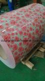 Bobina de aço galvanizada Pre-Painted com base vermelha da flor branca da manufatura direta