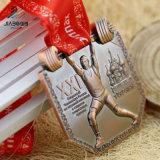방아끈을%s 가진 큰 메달이 고대 청동색 아연 합금 3D 러시아 금속에 의하여