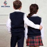 Chaleco negro del uniforme escolar de la alta calidad
