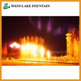 Grande fontana variopinta musicale di Dancing in un parco a tema