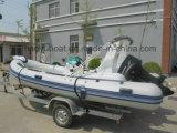 Bote de salvamento, Outboard Motor Boat, Rib Boat, los 5.2m Inflatable Boat