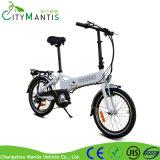 隠された電池が付いている電気バイクを折る36V250W Alの合金