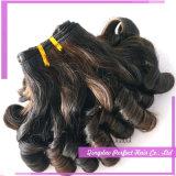 長いPeruvainのインドの人間の毛髪の拡張