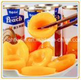 Fabricante amarelo enlatado do pêssego da fruta 2016 enlatada