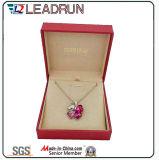 革ビロードの宝石類の収納箱の記念品の現在の腕輪のカフスボタンのパッキングギフト用の箱(YSP135)