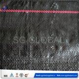 Barriera verde nera della rete fissa del limo di controllo di erosione tessuta plastica