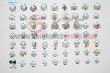 Gemas metálicas da arte Charming do prego da decoração 3D dos Rhinestones com o cristal da cor da mistura