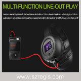 Auriculares sem fio baixos pesados de Bluetooth do auscultadores do som da música do esporte