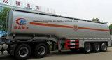 Petroleiro cúbico 45000 litro do petróleo reboque do combustível de 45 medidores Semi para a venda