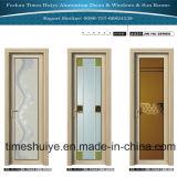 Дверь туалета двери ванной комнаты двери качания алюминиевого сплава прикрепленная на петлях дверью