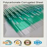 PC Sheet di Greenhouse 1.2mm Corrugated del tetto