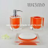 Stanza da bagno trasparente di Polyresin impostata (WBP0202F)