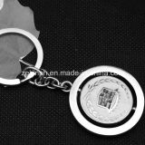 Spinning feito sob encomenda Metal Keychains com Printed ou laser Logo