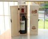 Rectángulo de madera de moda modificado para requisitos particulares nuevo diseño para el empaquetado del vino