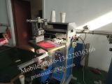 Impresora manual de la pantalla para las tazas de papel