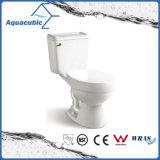 Siphonic en deux pièces choisissent la toilette en céramique affleurante (ACT6860)