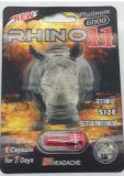 코뿔소 11 티타늄 6000 남성 성적인 증강 인자 3D 탄알 20 캡슐 팩