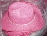 ピンクの麦わら帽子