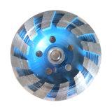 Каменный конкретный абразивный диск чашки Turbo диска диаманта