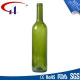 bottiglia di vino verde scuro 500ml con il collo di rivestimento della vite (CHW8099)