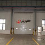 Дверь гаража профессионального изготовления Китая автоматическая промышленная секционная сползая