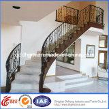 Carriles de mano al por mayor decorativos de la escalera del hierro de China